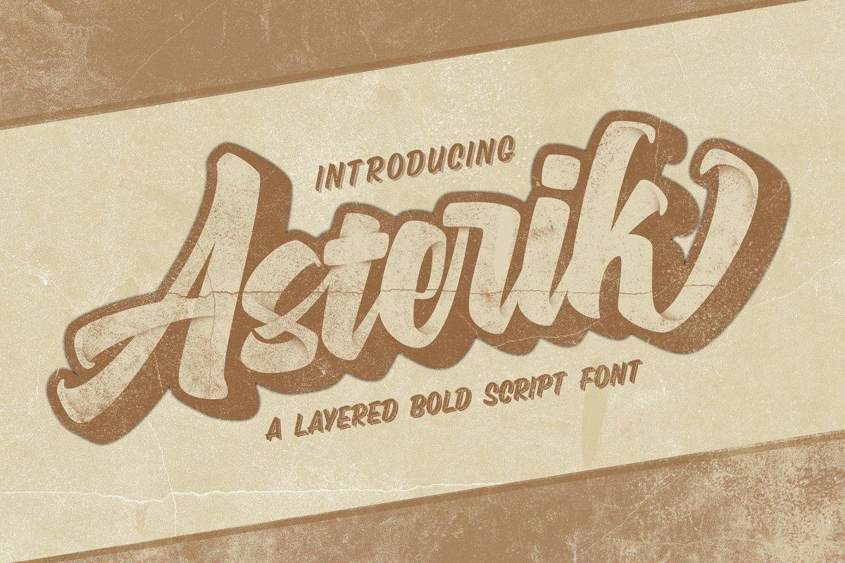 asterik-layered-bold-script
