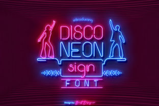 disco-neon-sign-font
