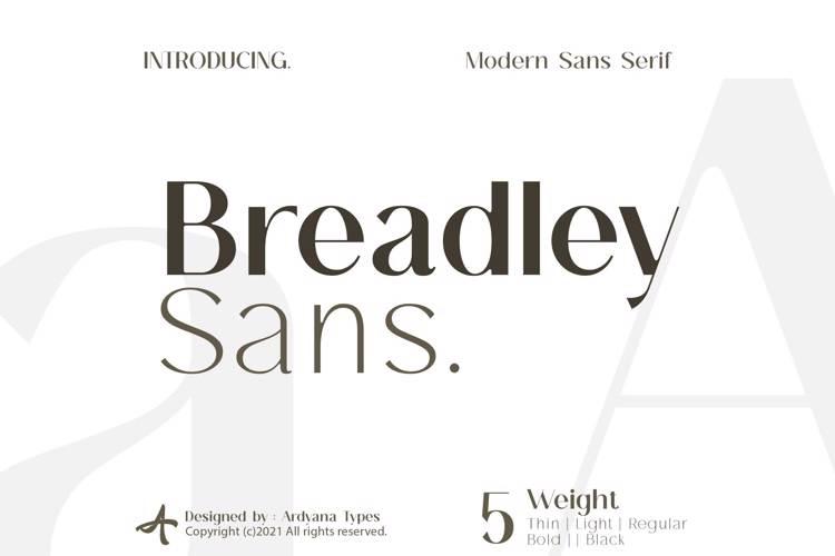 breadley-sans-font