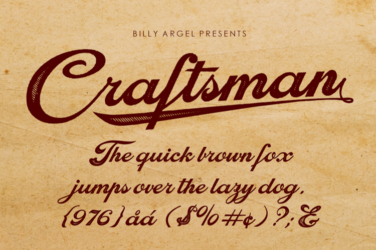 craftsman-font