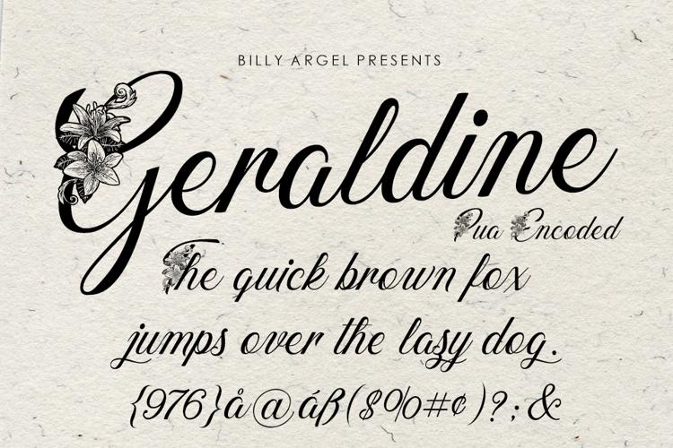 geraldine-font