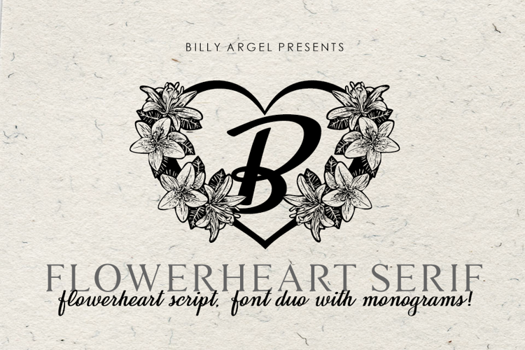flowerheart-font