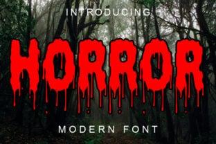 horror-font