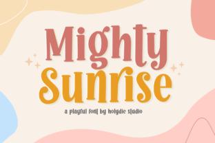 mighty-sunrise-font