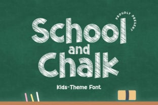 school-and-chalk-font