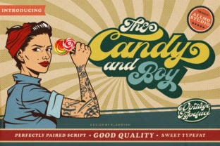 the-candy-and-boy-font