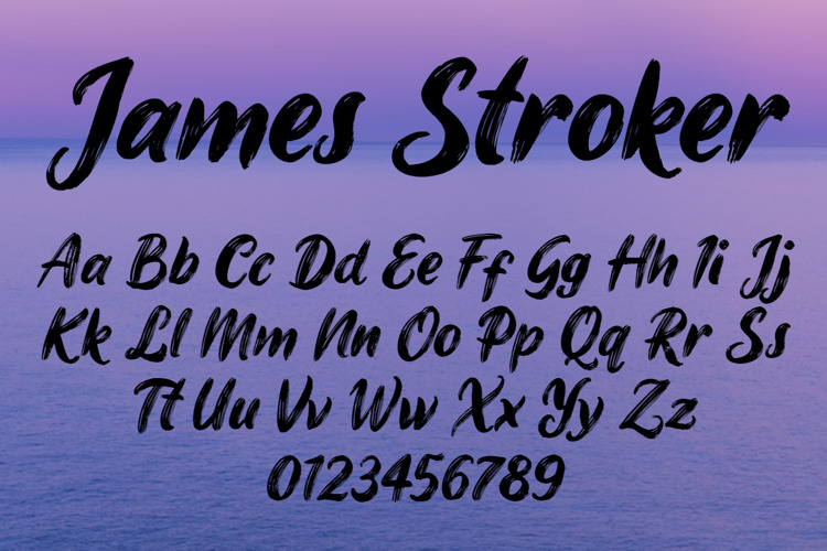 james-stroker-font