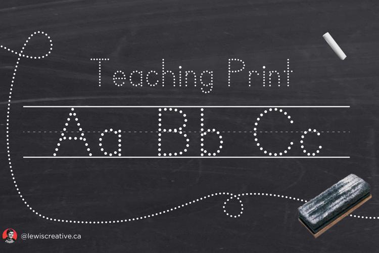 teaching-print-font