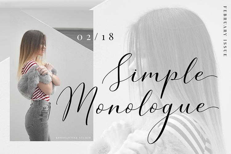 simple-monologue-font