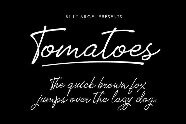 tomatoes-font