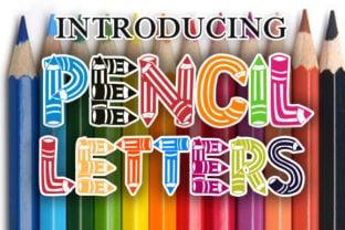 pencil-letters-font