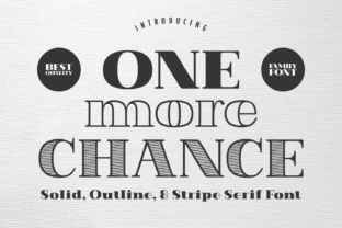 one-more-chance-font