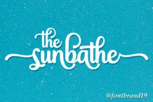 the-sunbathe-font