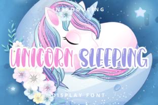 unicorn-sleeping-font
