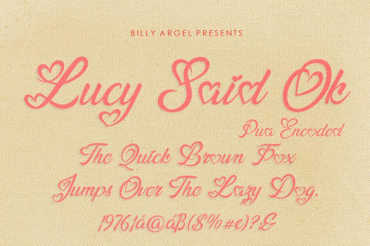 lucy-said-ok-font