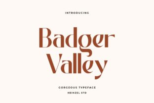 badger-valley-font