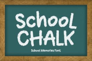 school-chalk-font