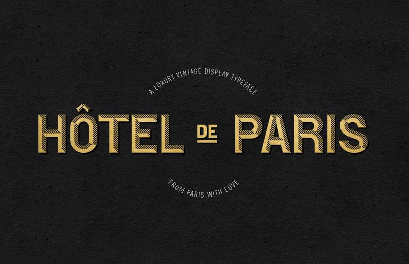 Download Hotel De Paris Font for free | Font Style