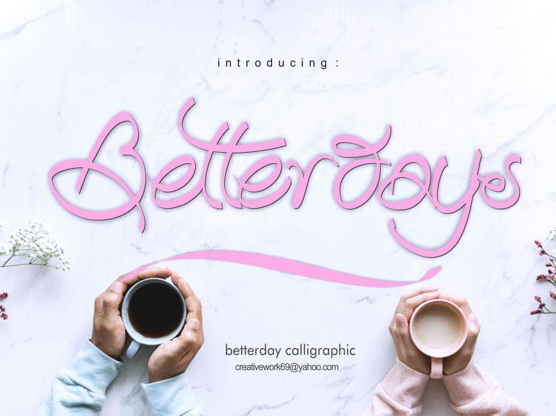 betterday-calligraphic