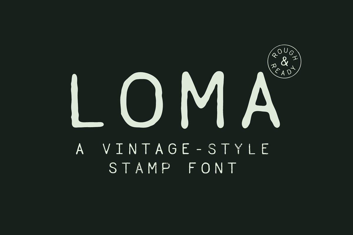 loma-a-vintage-style-stamp-font