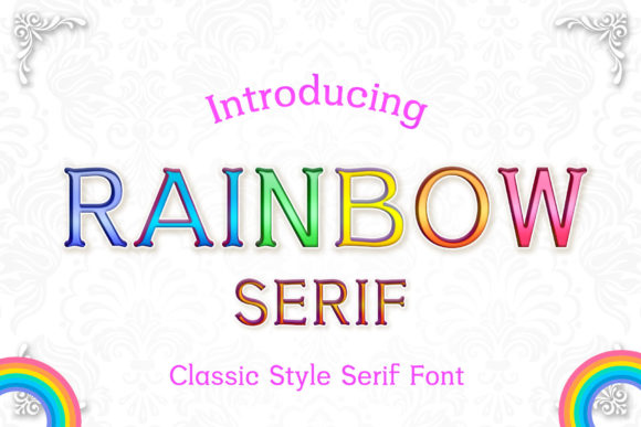 rainbow-serif