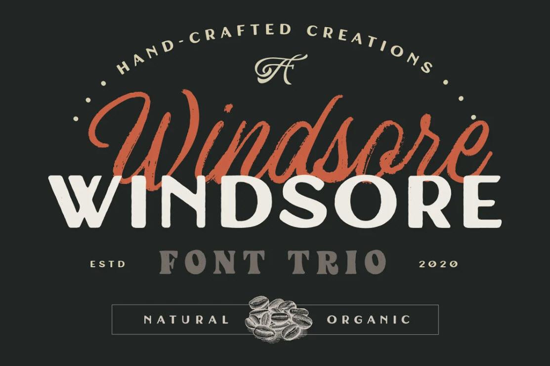 windsore-font-trio