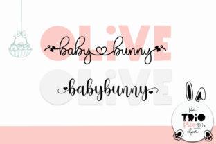 olive-babybunny-font