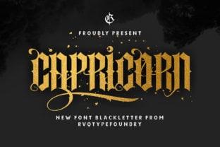capricorn-font
