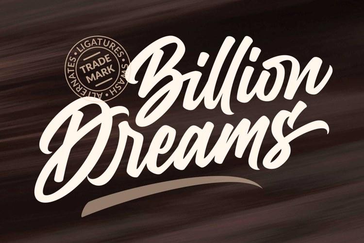 billion-dreams-font