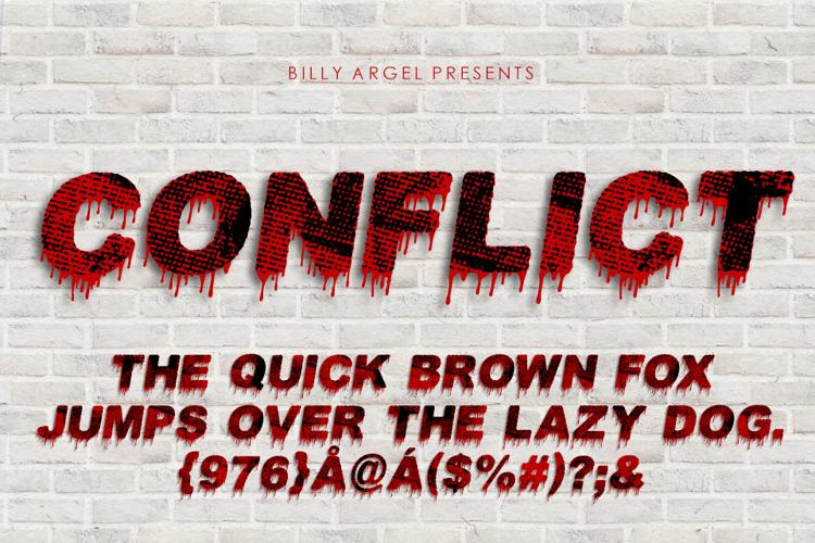conflict-font