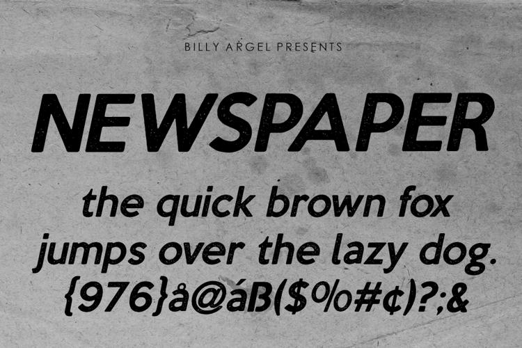 newspaper-font