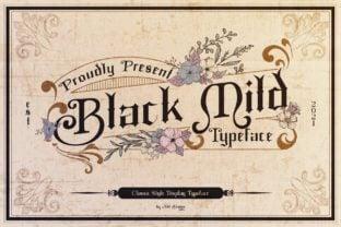 black-mild-font