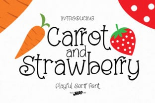 carrot-and-strawberry-font