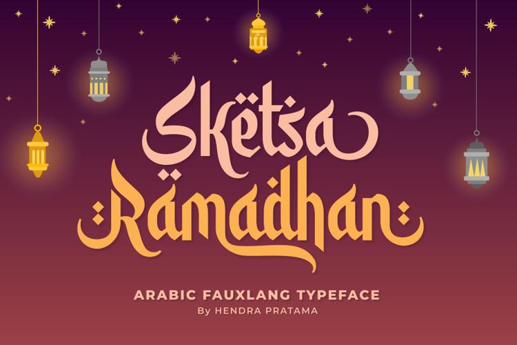 sketsa-ramadhan-font