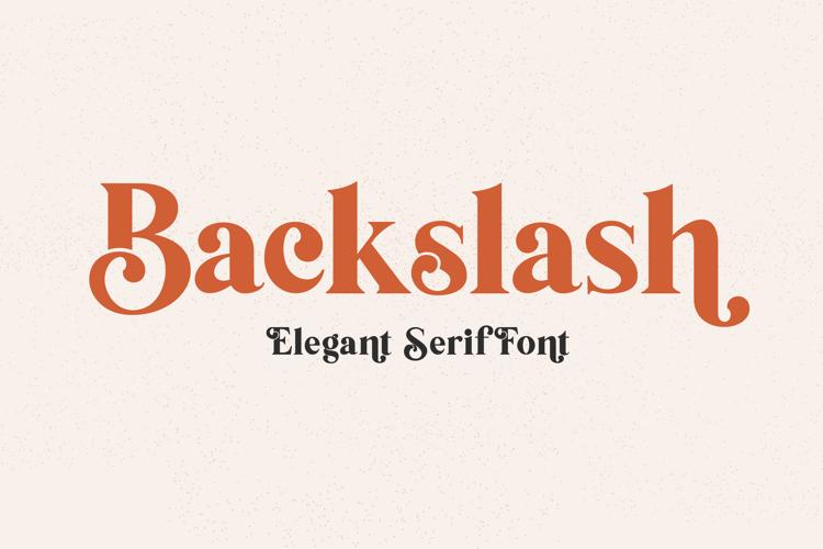 backslash-font