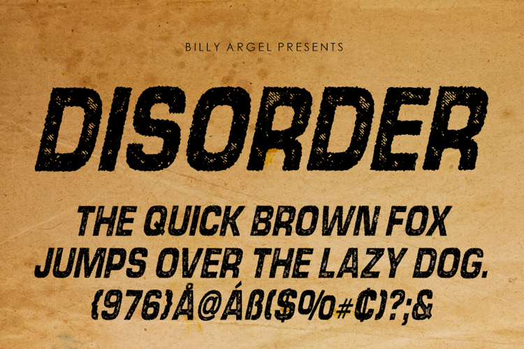 disorder-italic-font