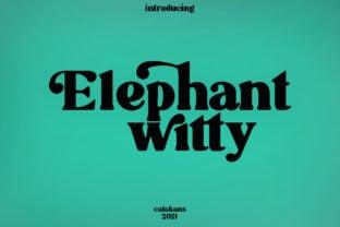 elephant-witty-font