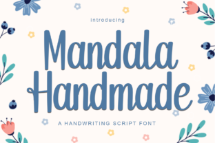 mandala-handmade-font