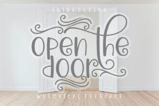 open-the-door-font