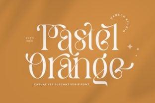 pastel-orange-font