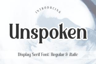 unspoken-font
