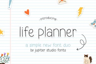 life-planner-duo-font